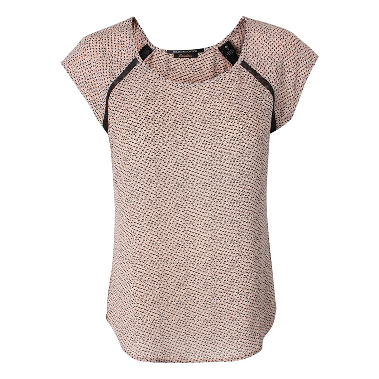 MAISON SCOTCH TOP - 53737 SILKY PRINTED PUDDER