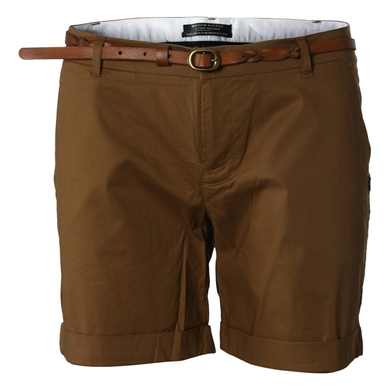 MAISON SCOTCH SHORTS - 81729 CLEAN CAMEL