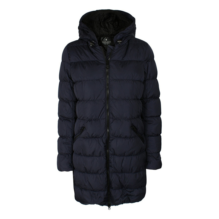 MAISON SCOTCH JAKKE - 10723 LONG DOWN JACKET BLÅ
