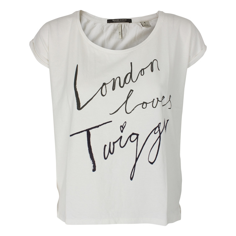 MAISON SCOTCH T-SHIRT - 51757 LONDON CREME