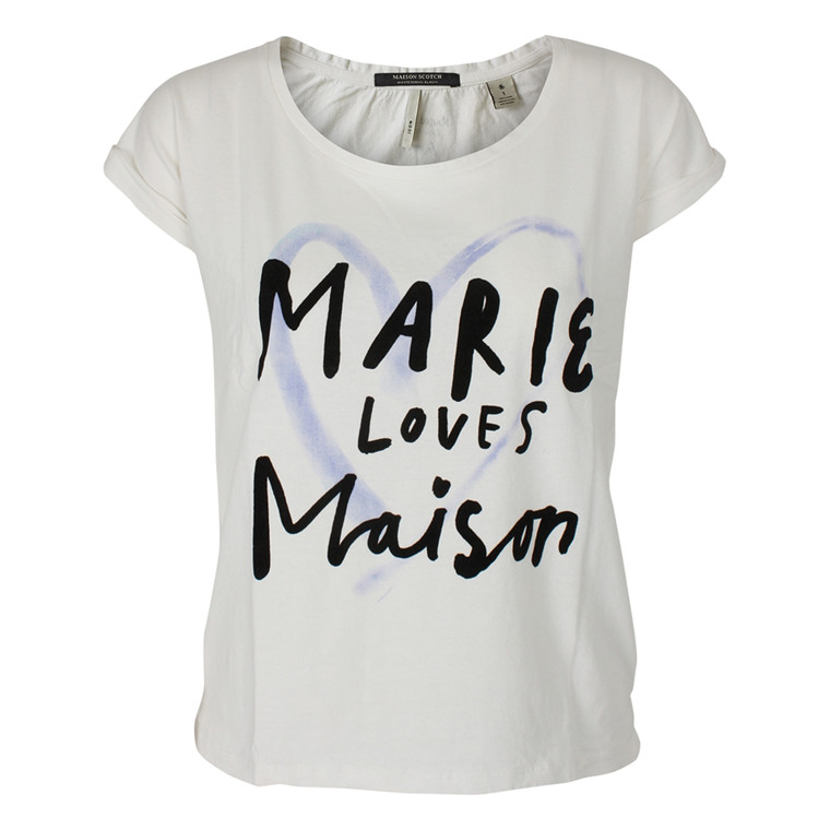 MAISON SCOTCH T-SHIRT - 51757 MARIE CREME