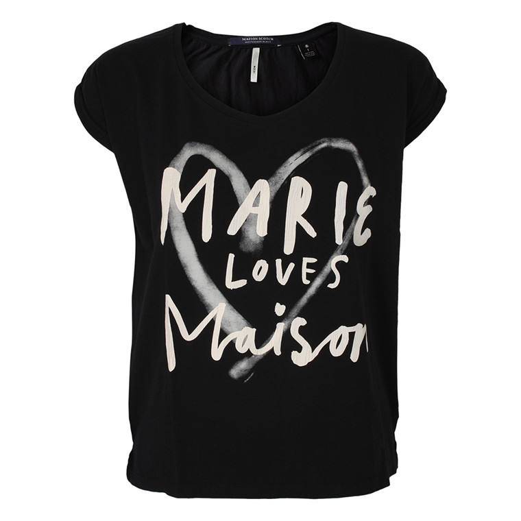 MAISON SCOTCH T-SHIRT - 51757 MARIE SORT