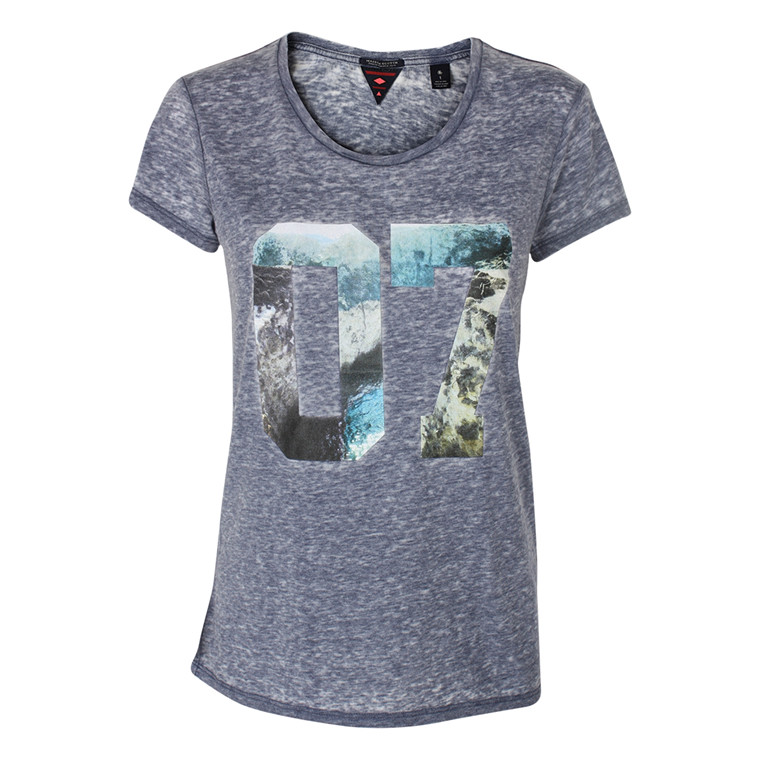 MAISON SCOTCH T-SHIRT - 51740 BLÅ