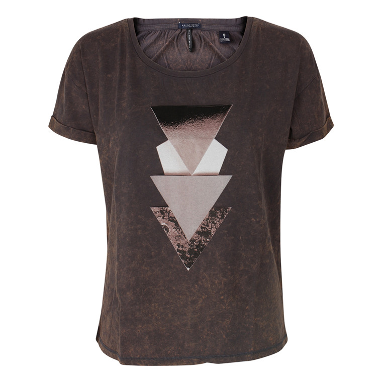 MAISON SCOTCH T-SHIRT - 51721 RELAXED FIT TEE BRUN