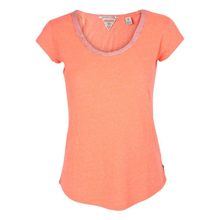 MAISON SCOTCH T-SHIRT - 51761 ORANGE