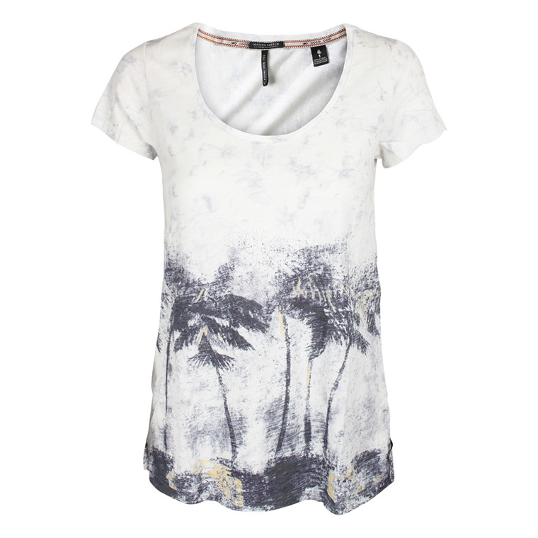 MAISON SCOTCH T-SHIRT - 51742 BASIC A-LINE SLUB HVID