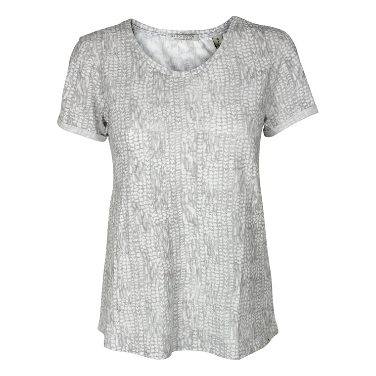 MAISON SCOTCH T-SHIRT - 51636 GRÅ