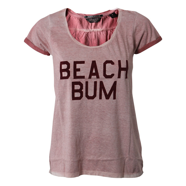 MAISON SCOTCH T-SHIRT - 51733 PRINTED TEE ROSA
