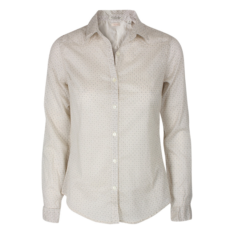 MAISON SCOTCH SKJORTE - 20701 FITTED SHIRT CREME