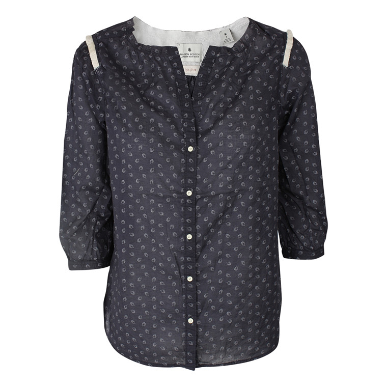 MAISON SCOTCH SKJORTE - 53734 BLÅ