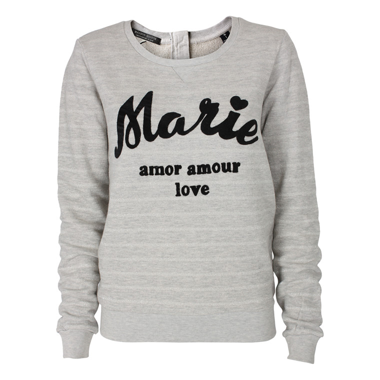 MAISON SCOTCH SWEATSHIRT - 40764 LYS GRÅ