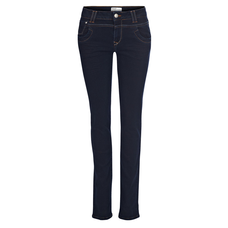 PULZ JEANS - P95058 TENNA STRAIGHT JEANS BLÅ
