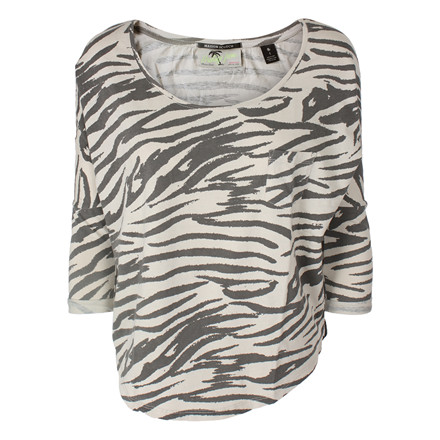 MAISON SCOTCH T-SHIRT - 50771 ZEBRA TEE CREME