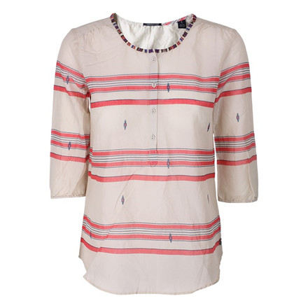 MAISON SCOTCH SKJORTE - 53708 LIGHTWEIGHT SUMMERY TUNIC RØD