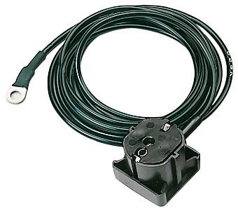 Jordingsstik (Schuko) med 2m glat ledning og 4mm ringkabelsko