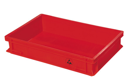 Dissipative IDP-STAT® lagerkasser - Rød - Gul