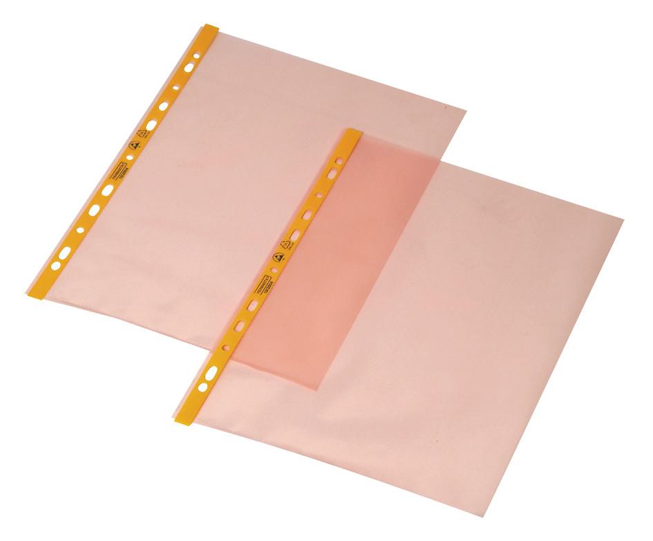 PERMASTAT® A4 plastlomme med åben top og med huller , 100 stk.