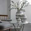 Kähler Omaggio Vase Sølv striber mellem