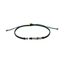 Stine A Candy Bracelet Mix Gemstone Og Mørkeblå Bånd