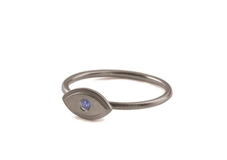 Pernille Corydon Lucky Eye Ring Rhodineret