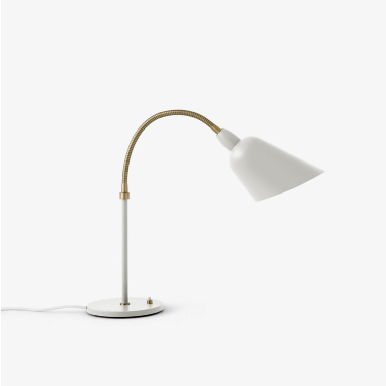 And Tradition Bellevue Bordlampe AJ8 Ivory Hvid-Messing