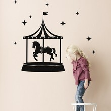 Ferm Living sort Cirkus wallsticker