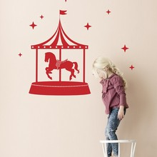 Ferm Living Cirkus wallsticker rød