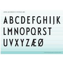Design Letters Arne Jacobsen Vintage ABC Plakat