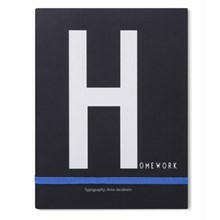 Design Letters Notebook, H for Homework