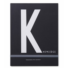 Design Letters Notebook K for Knowledge