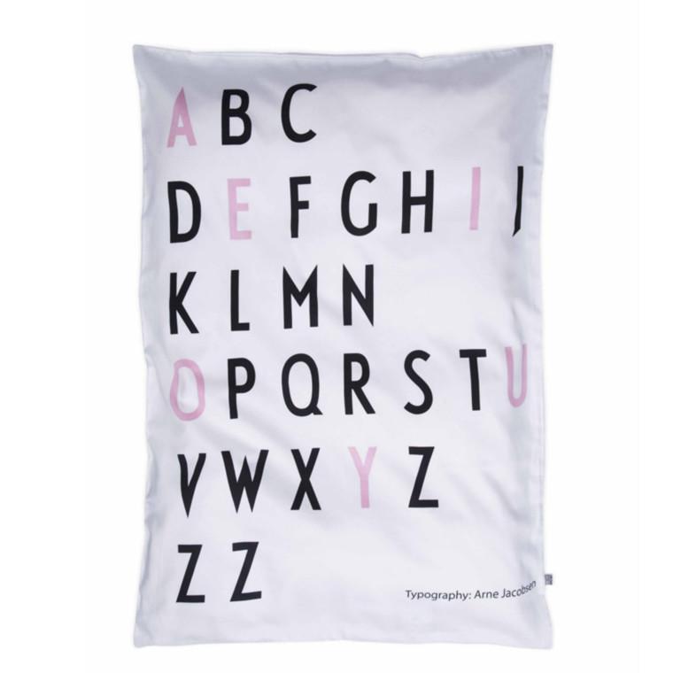 Design Letters Sengetøj Baby Sort/Pink
