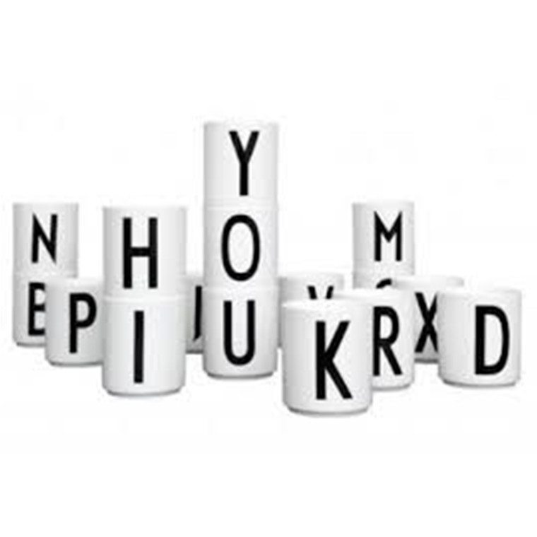 Kop med Bogstav fra Design Letters