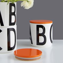 Design Letters Opbevaringskrukke m/Orange Låg