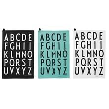 Design Letters Viskestykker Mix Sort/Hvid/Turkis