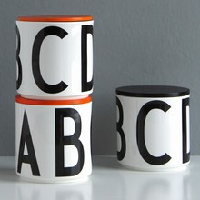 Design Letters Opbevaringskrukke m/Orange Lg