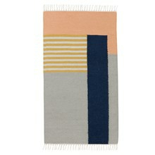 Ferm Living Kelim Rug - Tæppe - White lines Small