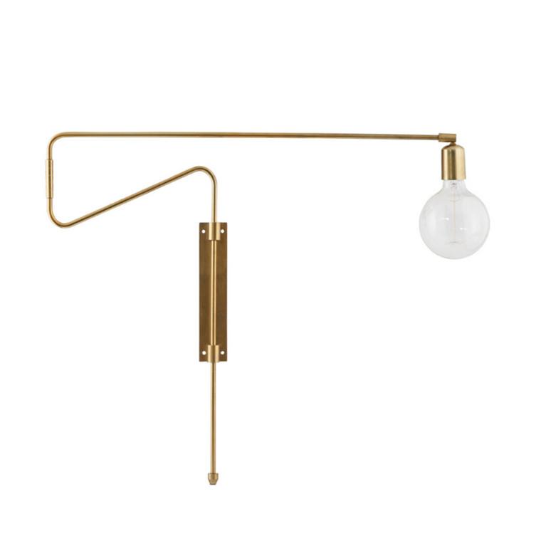 House Doctor Væglampe Swing Messing L70