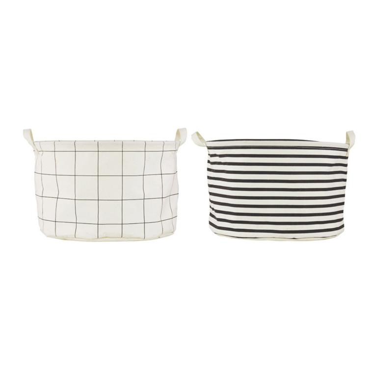 House Doctor Vasketøjspose Squares And Stripes