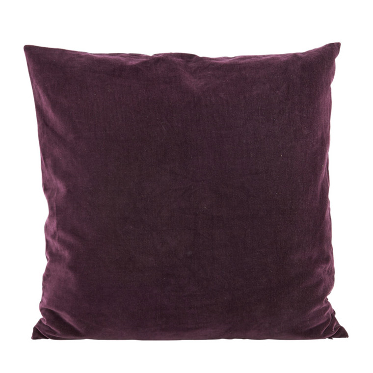 House Doctor Velv Pude Aubergine 60x60