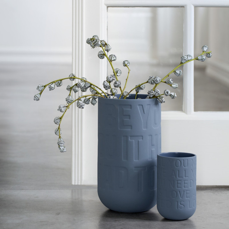 Kähler Love Song Vase Indigo Blå