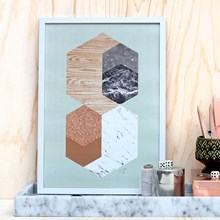 Kristina Krogh Materials in hexagons, mint