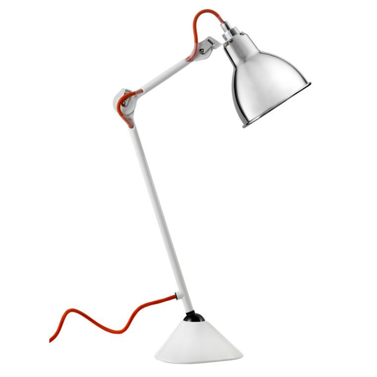 Lampe Gras Bordlampe No. 205 Hvid-Krom