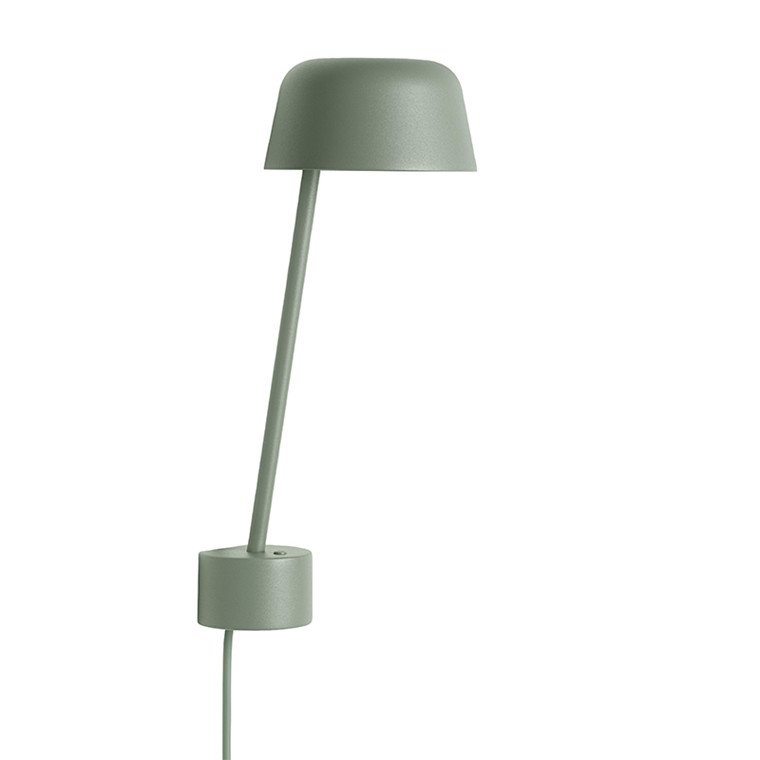 Muuto Lean Væglampe Støvet Grøn