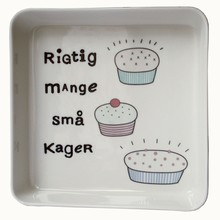 Liebe &quot;rigtig mange sm kager&quot; fad