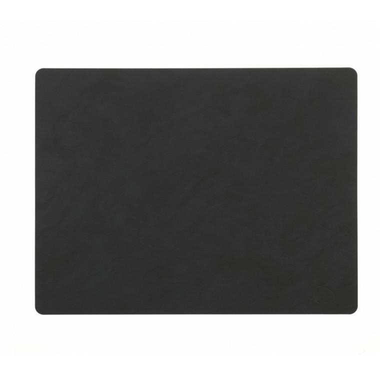 Lind DNA Table Mat Dækkeserviet Square Black-Softbuck