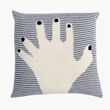 LuckyBoySunday fancy finger pillow / dark blue