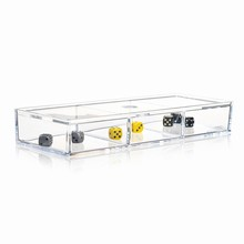 Nomess 3-Room Box W. Lid Clear