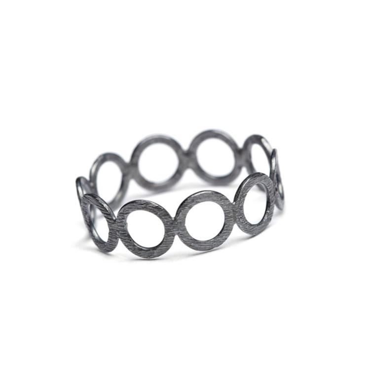 Pernille Cordon Ring Circle Rhodineret