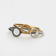 Pernille Corydon Mini Twisted Open Coin Ring