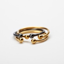 Pernille Corydon Ring With 2 Micropearls